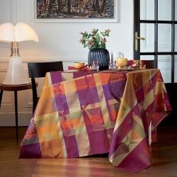 Tissu nappe au metre Mille Tingari Terre rouge en 185cm, Garnier-Thiébaut