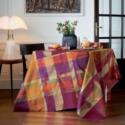 Nappe de table Mille Tingari Terre rouge