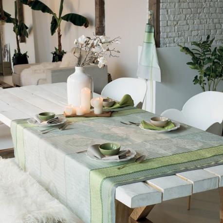 Nappe de table Mille Symphorine Amande, Garnier-Thiébaut