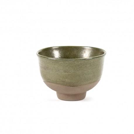Bol à thé en grès émaillé N°2 S Green, Meal x3 Merci, pour Serax