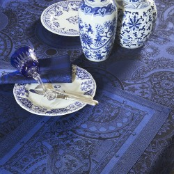 Nappes enduites Porcelaine Bleu de chine, Le Jacquard Français