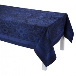 Tissu enduit Porcelaine Bleu de chine, laize 180cm, Le Jacquard Français