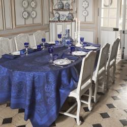 Nappes de table Porcelaine Bleu de chine, Le Jacquard Français