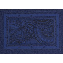 Set de table Porcelaine Bleu de chine, Le Jacquard Français (par 4)