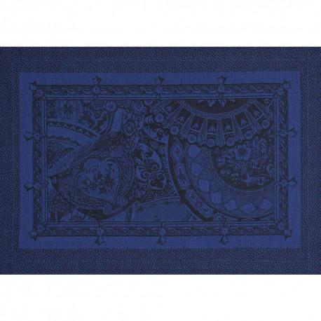 Set De Table Deco Design Provencal Bleu Jacquard