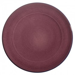 Assiette plate ceramique Collection Sud aubergine, Atelier Romain Bernex