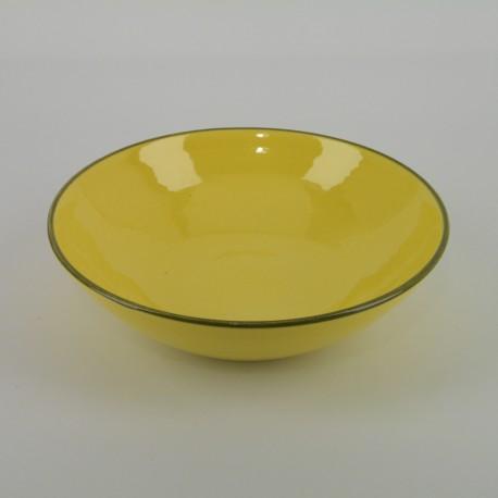 Assiette pasta céramique Collection Sud jaune, Atelier Romain Bernex