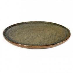 Assiette plate 27 cm grès émaillé Surface Indi Grey, Serax par Sergio Herman