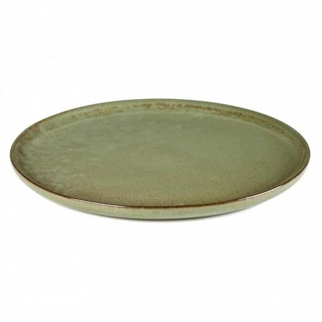 Assiette plate 27 cm grès émaillé Surface Camo Green, Serax par Sergio Herman