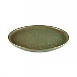 Assiette dessert 21 cm grès émaillé Surface Camo Green, Serax par Sergio Herman