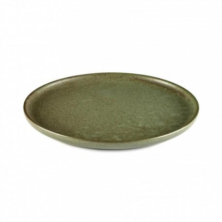 Vaisselle grès émaillé, Assiette dessert 21 cm Surface Camo Green, Serax par Sergio Herman