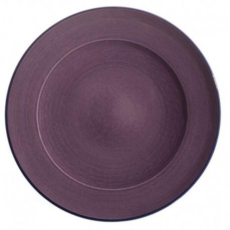 Assiette dessert céramique Collection Sud violette, Atelier Romain Bernex
