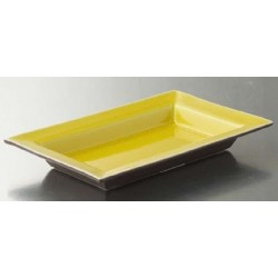 Plat rectangulaire 16x24 cm Tourron citron