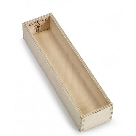Range couvert, boite a couvert, en bois, couteaux, fourchettes et cuillères Surface Sergio Herman, Serax