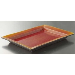 Plat rectangulaire 16x24 cm Tourron orange