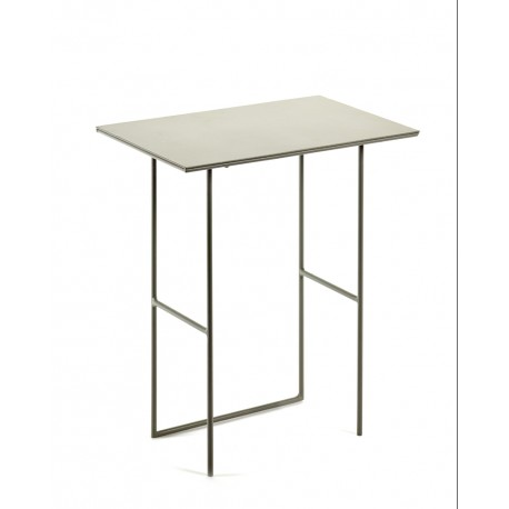 Table d'appoint métal Cico Gris 40x24.5 H45cm, Antonino Sciortino pour Serax