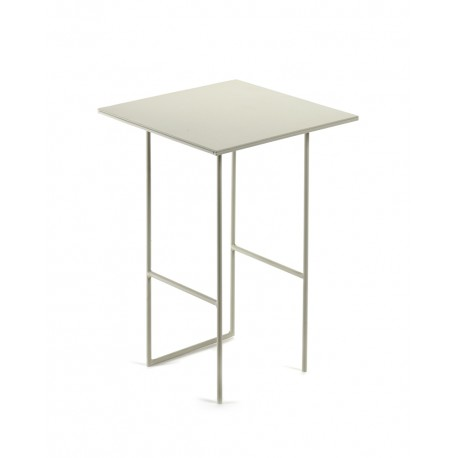 Table d'appoint métal Cico Gris clair 30x30 H41cm, Antonino Sciortino pour Serax