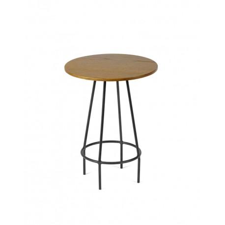 Table d'appoint design bois/métal Ula D30 H39.5cm, Antonino Sciortino pour Serax