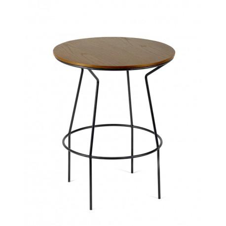 Table d'appoint design bois/métal Ula D40 H50cm, Antonino Sciortino pour Serax