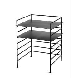 Etagère design Issa métal Noir 40X37.5 - H50cm, Antonino Sciortino, Serax
