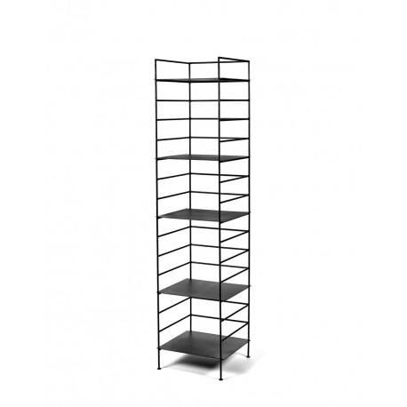 Etagère design Issa métal Noir 38X38 - H155cm, Antonino Sciortino, Serax