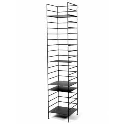 Etagère design Issa métal Noir 40X37.5 - H184cm, Antonino Sciortino, Serax