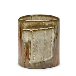 Vase design céramique Structure Vert forêt Anita Le Grelle, Serax
