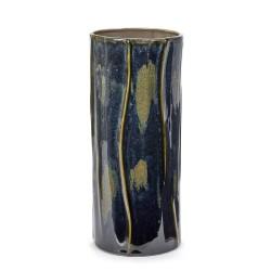 Vase design haut céramique Structure Vert forêt Anita Le Grelle, Serax