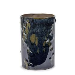 Vase design céramique Structure Bleu nuit Anita Le Grelle, Serax