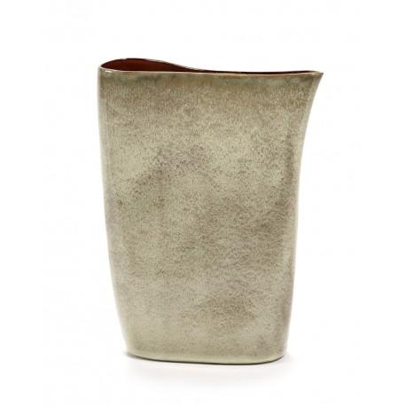 Vase haut design céramique Terres de Rêves Misty grey/Rust Anita Le Grelle, Serax