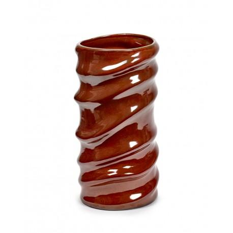Vase design céramique Structure Rouge lave Anita Le Grelle, Serax
