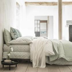 Linge de lit de luxe percale de coton Feuilles d'ikat, Alexandre Turpault