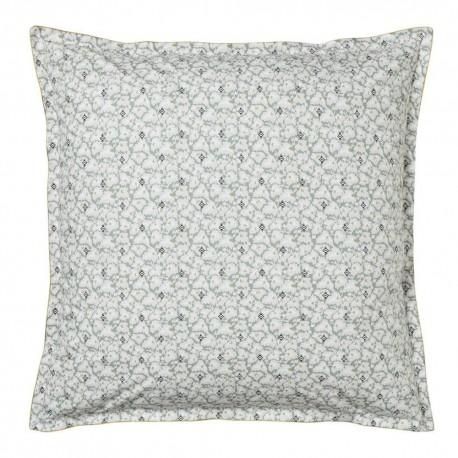 Taie carrée percale de coton Feuilles d'ikat, Alexandre Turpault