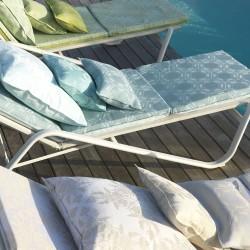 Matelas bain de soleil outdoor Syracuse 60x190cmt, Le Jacquard Français