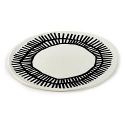 Assiette porcelaine Table Nomade noir 32cm Paola Navone, Serax