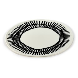 Assiette pizza porcelaine Table Nomade noir 32cm Paola Navone, Serax