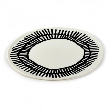 Assiette pizza porcelaine Table Nomade noir 32cm Paola Navone, Serax
