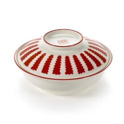 Ensemble bol et assiette creuse porcelaine Table Nomade rouge Paola Navone, Serax