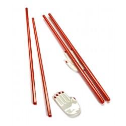 Pose-baguettes et baguettes porcelaine Table Nomade rouge Paola Navone, Serax