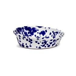 Saladier 33cm Terre cuite émaillée bleu indigo Table Nomade Paola Navone, Serax