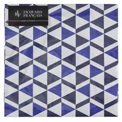 Serviettes papier Bistronome Indigo, Le Jacquard Français