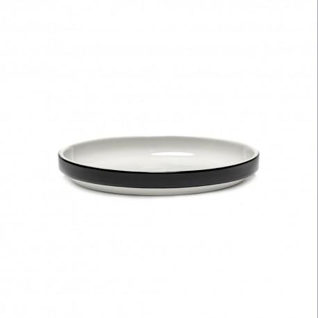Vaisselle tendance porcelaine Passe-partout assiette plate basse tapas noir 18cm de Vincent Van Duysen, Serax