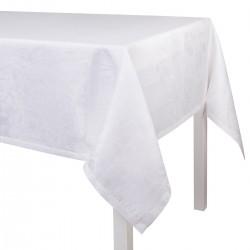 Tissu nappe au metre Tivoli Blanc, Le Jacquard Français