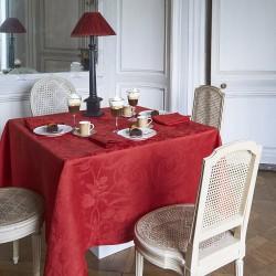 Tissu nappe au metre Tivoli Velours pur lin en 180cm ou 240cm, Le Jacquard Français