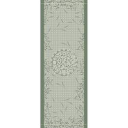 Chemin de table anti tache Persephone Olive, Garnier-Thiébaut