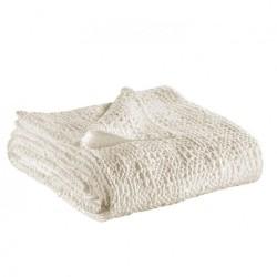 Jeté de lit coton stonewashed Tana Craie, Vivaraise