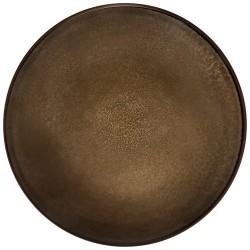 Médard de Noblat assiette plate 26.5cm grès Feeling Bronze