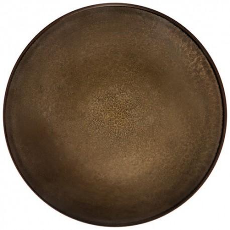 Médard de Noblat - Assiette plate 26.5cm grès Feeling Bronze