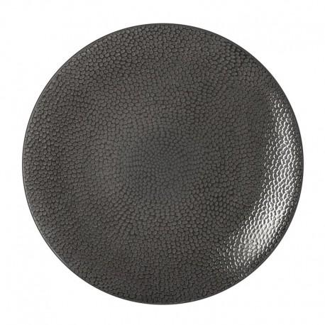 Médard de Noblat assiette plate 27cm grès Stone Gris