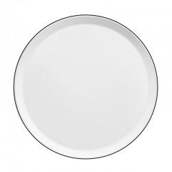 Médard de Noblat assiette plate 27cm porcelaine Yaka Noir
